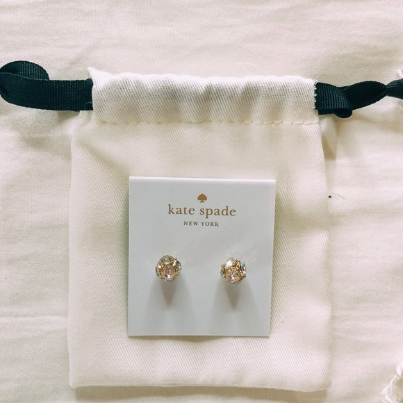 kate spade Jewelry - kate spade silver and and gold earrings